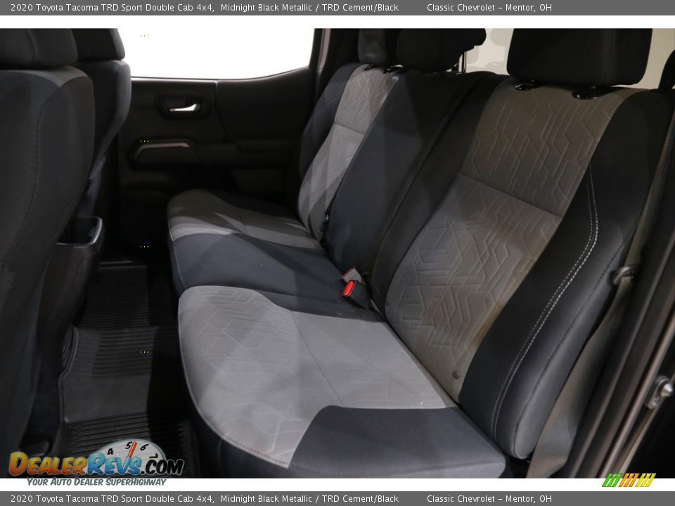 Rear Seat of 2020 Toyota Tacoma TRD Sport Double Cab 4x4 Photo #15