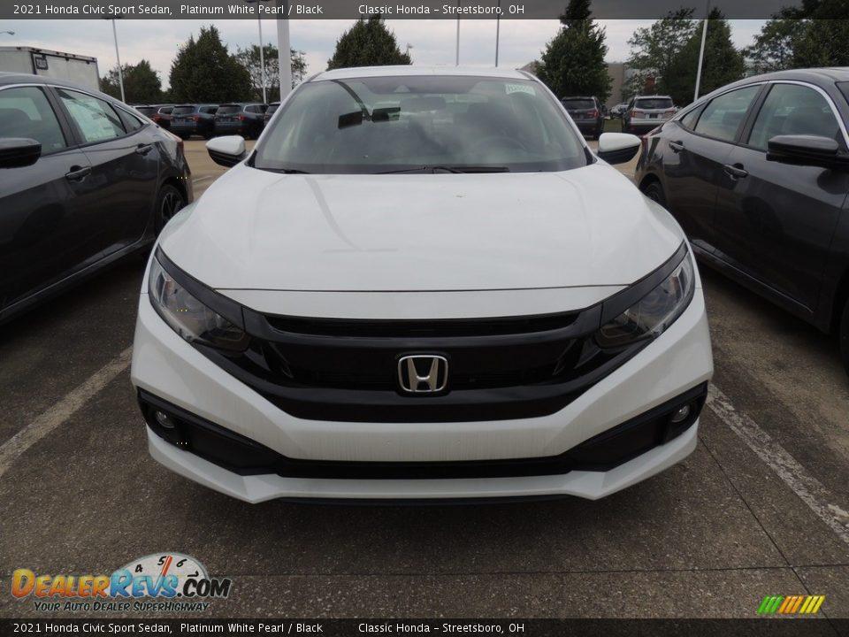 2021 Honda Civic Sport Sedan Platinum White Pearl / Black Photo #2