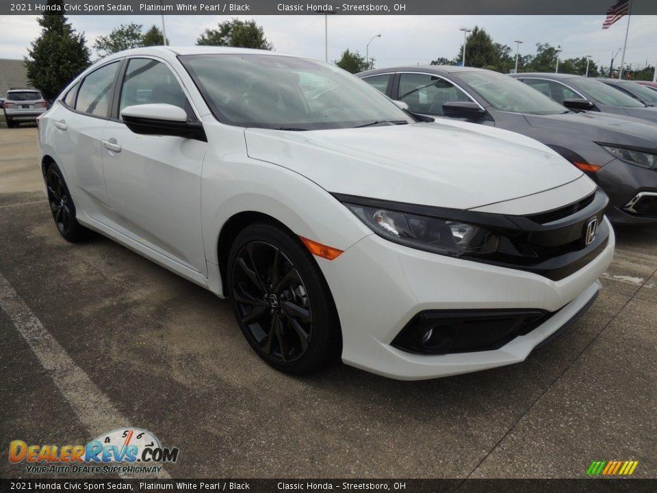 2021 Honda Civic Sport Sedan Platinum White Pearl / Black Photo #3