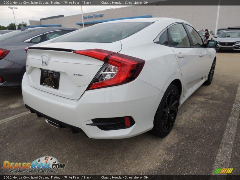 2021 Honda Civic Sport Sedan Platinum White Pearl / Black Photo #4