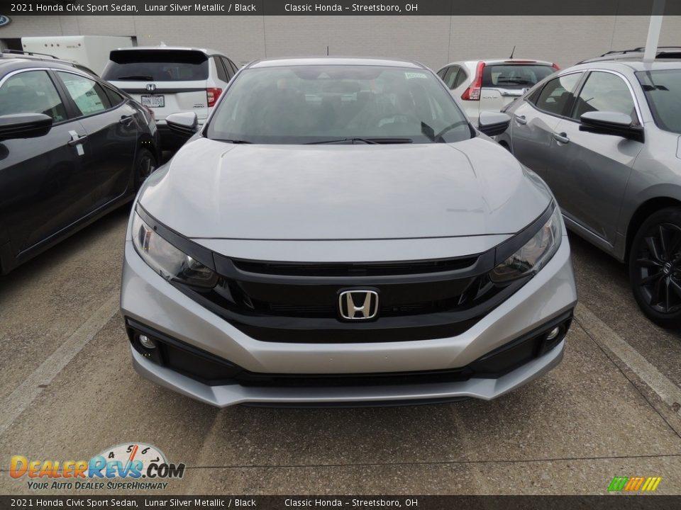 2021 Honda Civic Sport Sedan Lunar Silver Metallic / Black Photo #2