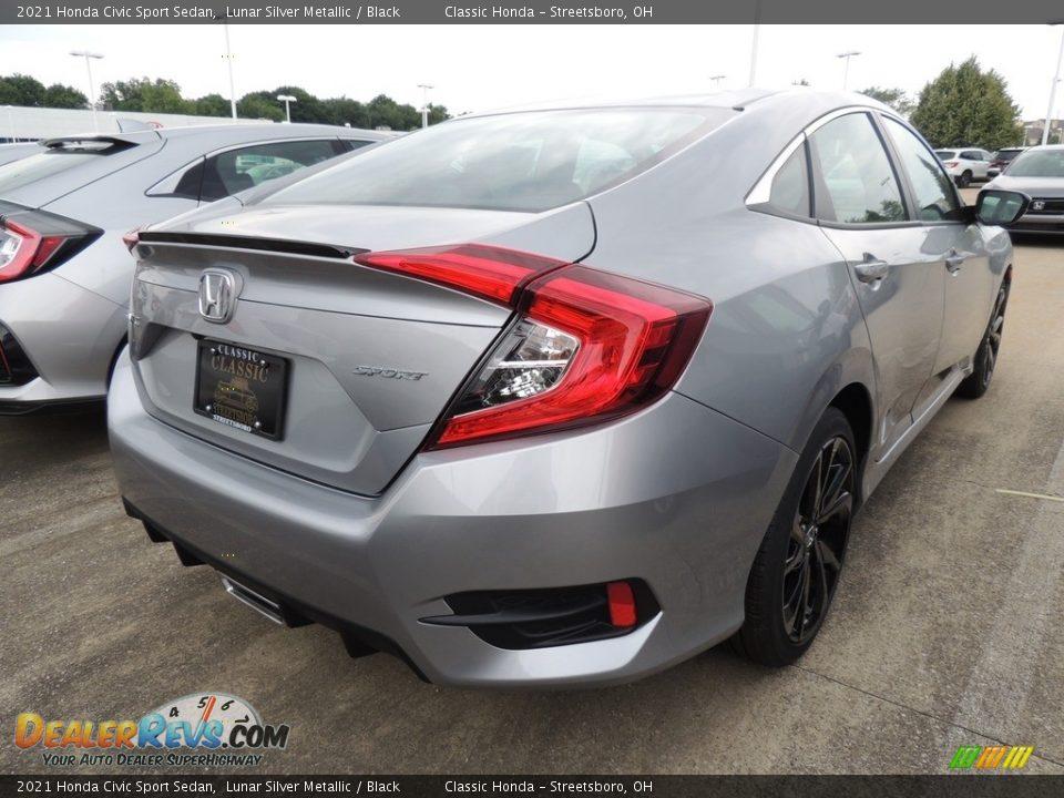 2021 Honda Civic Sport Sedan Lunar Silver Metallic / Black Photo #4