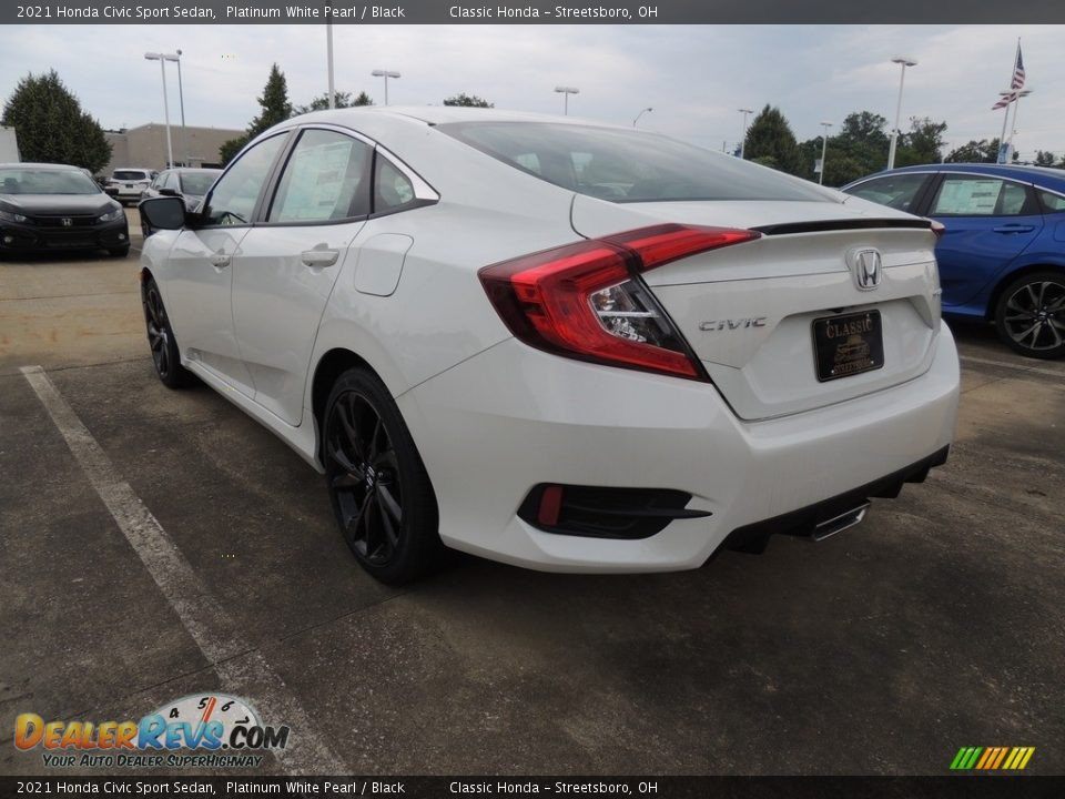2021 Honda Civic Sport Sedan Platinum White Pearl / Black Photo #5