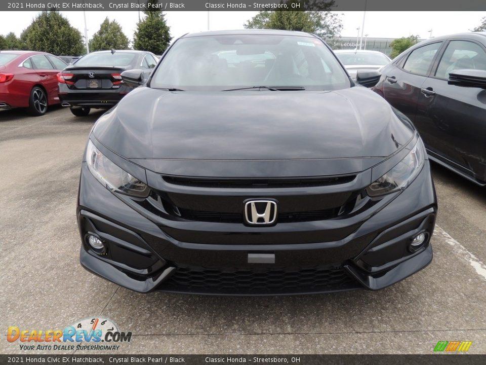 2021 Honda Civic EX Hatchback Crystal Black Pearl / Black Photo #2