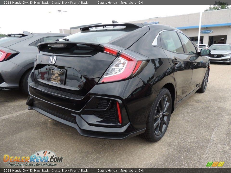 2021 Honda Civic EX Hatchback Crystal Black Pearl / Black Photo #4