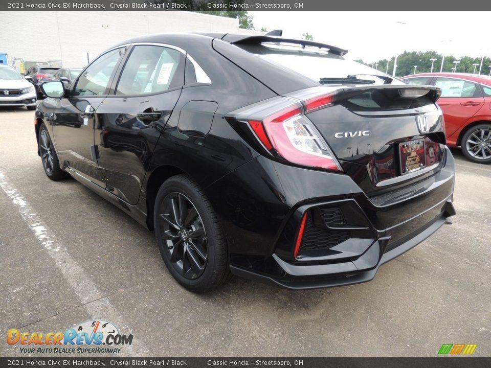 2021 Honda Civic EX Hatchback Crystal Black Pearl / Black Photo #5
