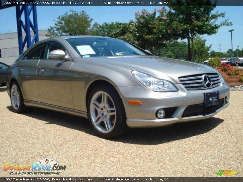 2007 mercedes benz cls 550 pewter metallic cashmere for 2007 mercedes benz cls