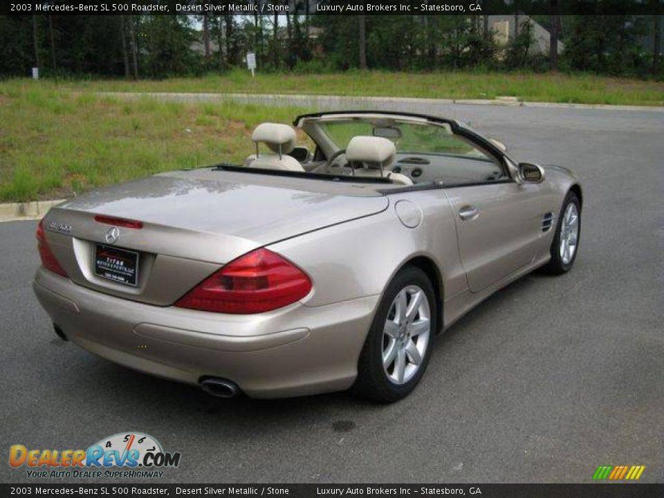 2003 mercedes benz sl 500 roadster desert silver metallic for Mercedes benz sl 500 2003