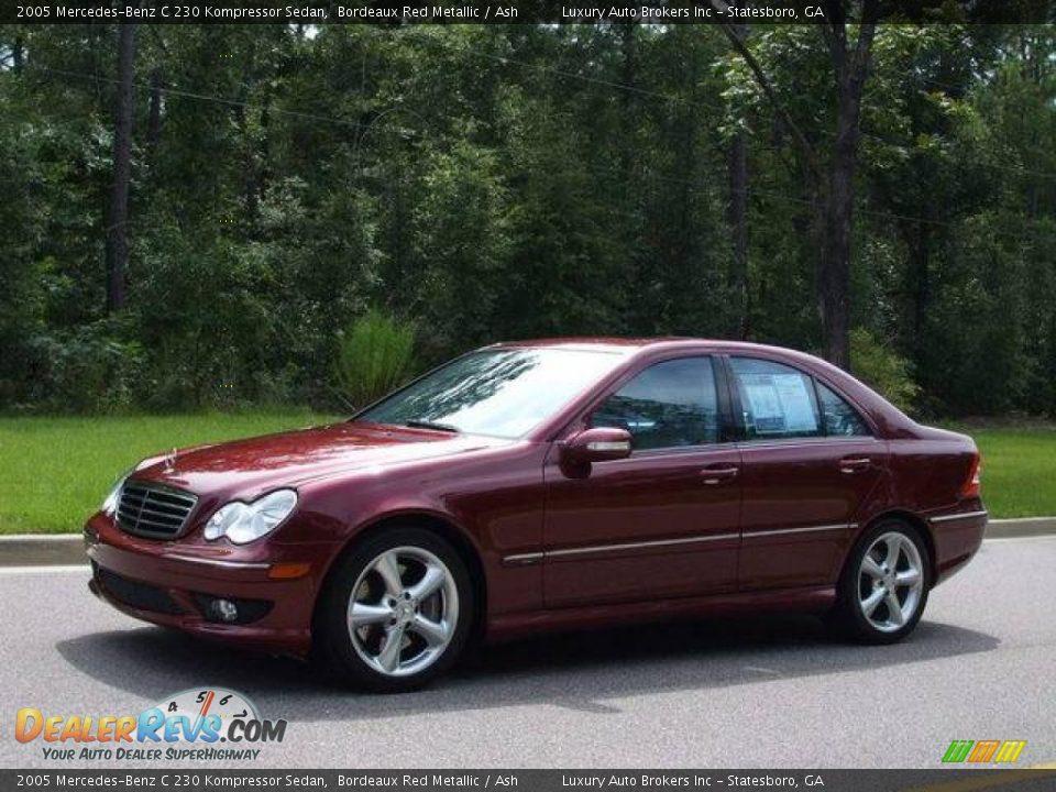 2005 mercedes benz c 230 kompressor sedan bordeaux red for Mercedes benz kompressor 2005