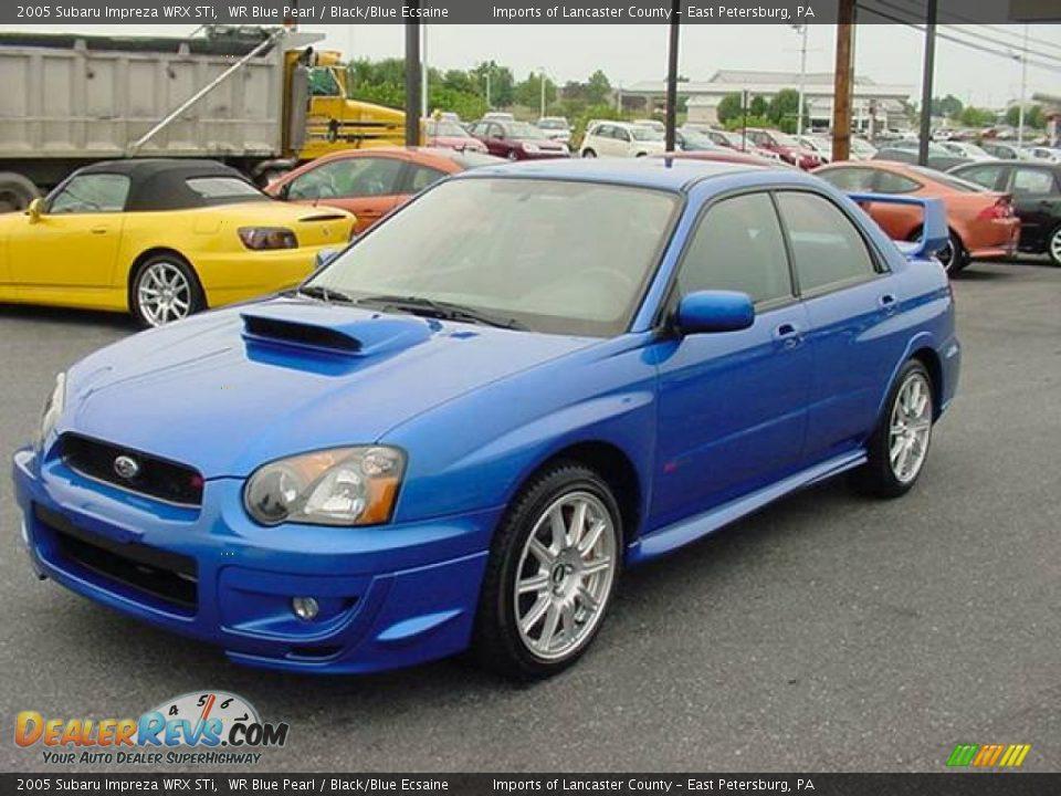 2005 Subaru Impreza Wrx Sti Wr Blue Pearl Black Blue