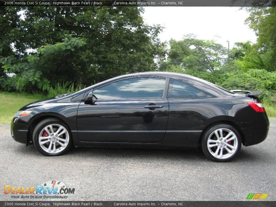 2006 honda civic si coupe nighthawk black pearl black. Black Bedroom Furniture Sets. Home Design Ideas