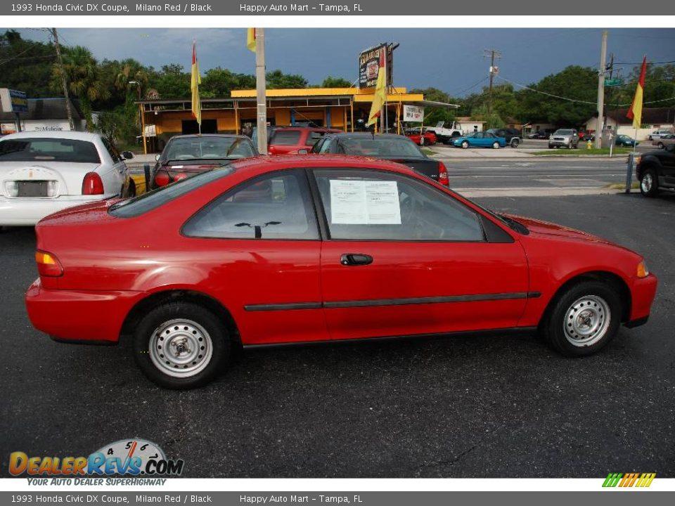 1993 Honda Civic DX Coupe Milano Red / Black Photo #4 | DealerRevs.com