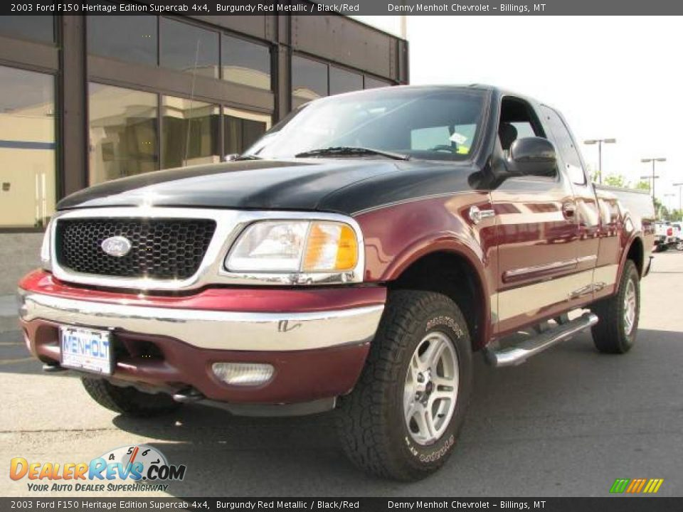 Heritage Edition Supercab Burgundy Red Metallic Black