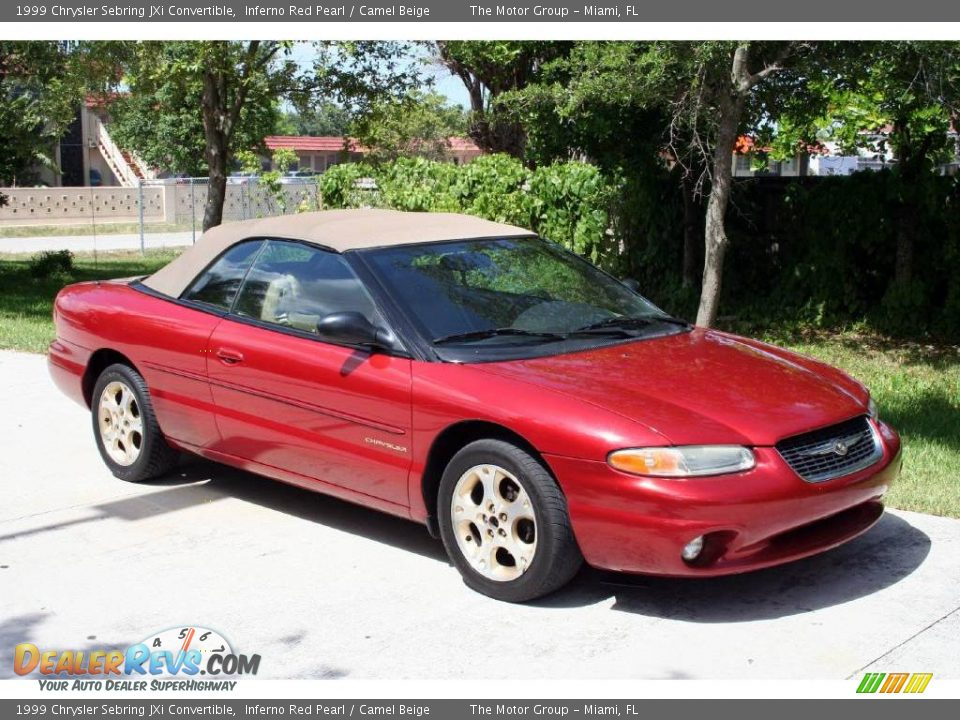 1999 chrysler sebring jxi convertible inferno red pearl. Cars Review. Best American Auto & Cars Review