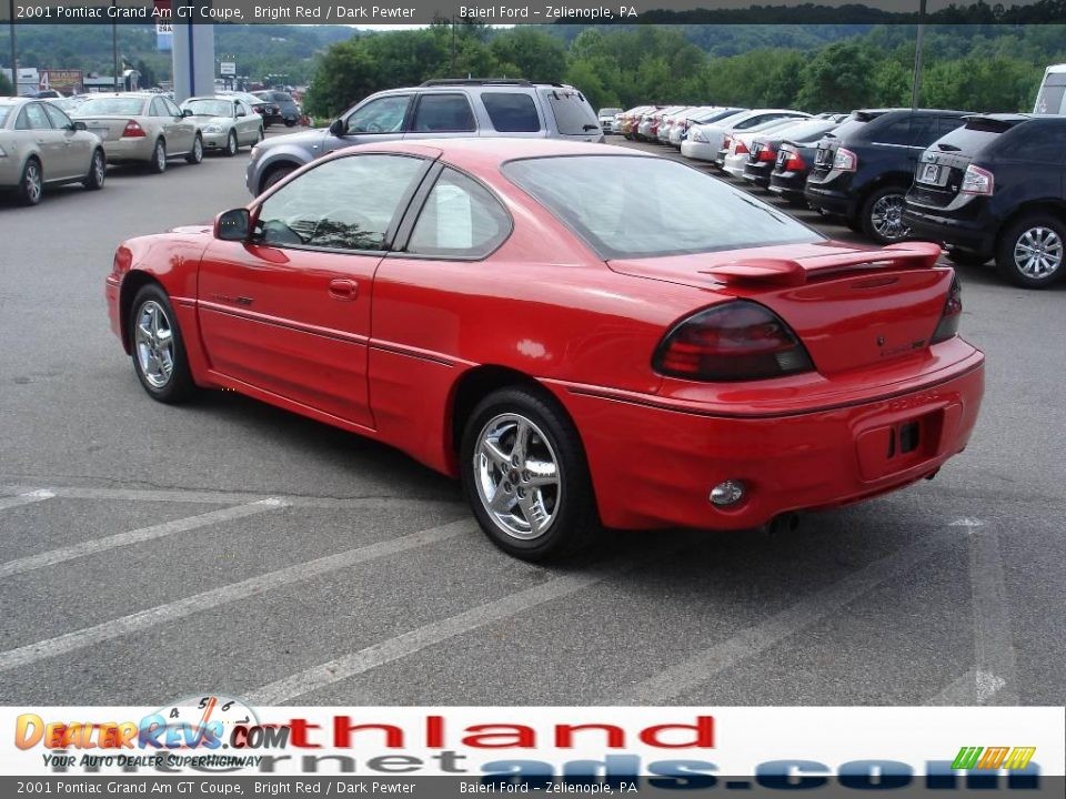 2001 pontiac grand am gt coupe bright red dark pewter photo 4. Black Bedroom Furniture Sets. Home Design Ideas