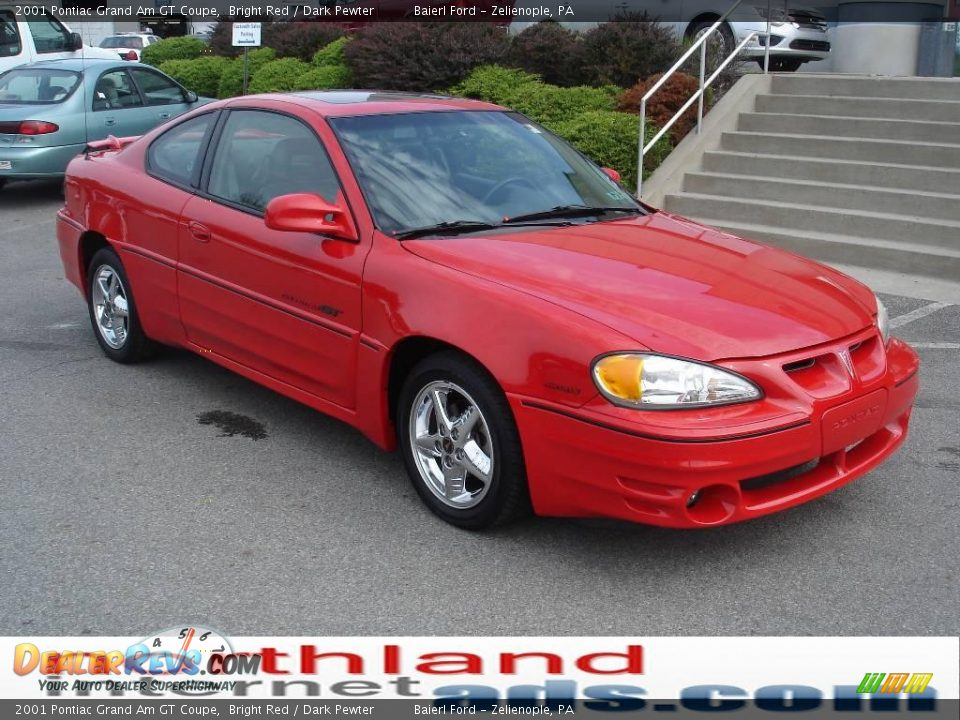 2001 pontiac grand am gt coupe bright red dark pewter photo 13. Black Bedroom Furniture Sets. Home Design Ideas