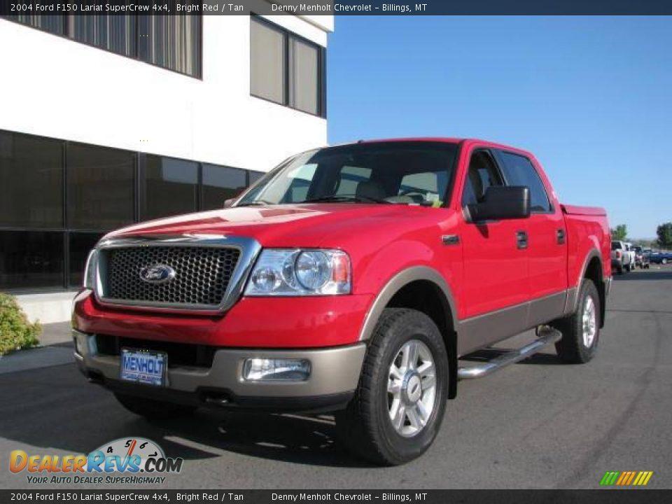 2004 ford f150 lariat supercrew 4x4 bright red tan photo 2. Black Bedroom Furniture Sets. Home Design Ideas