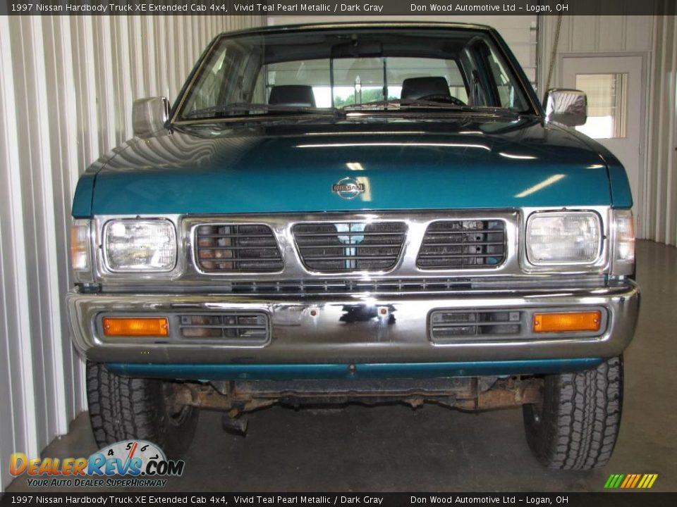 1997 nissan hardbody truck xe extended cab 4x4 vivid teal pearl metallic dark gray photo 3. Black Bedroom Furniture Sets. Home Design Ideas
