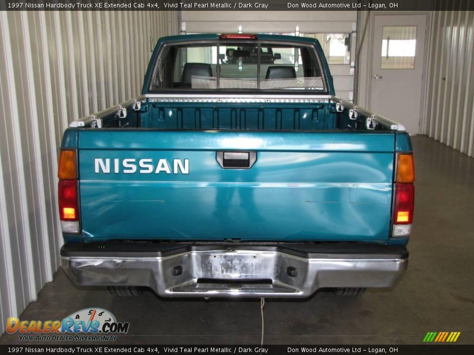 1997 nissan hardbody truck xe extended cab 4x4 vivid teal pearl metallic dark gray photo 4. Black Bedroom Furniture Sets. Home Design Ideas