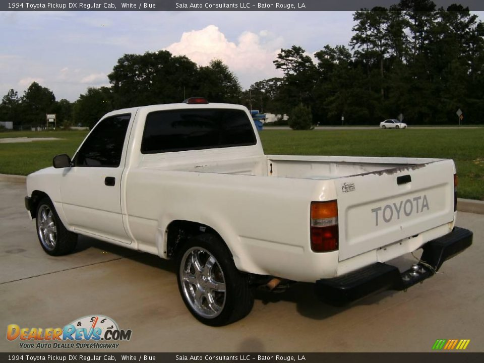 1994 Toyota Pickup Dx Regular Cab White Blue Photo 5