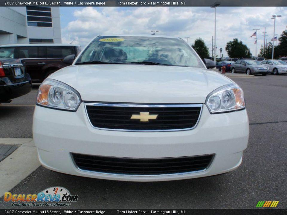 2007 chevrolet malibu ls sedan white cashmere beige photo 3. Cars Review. Best American Auto & Cars Review