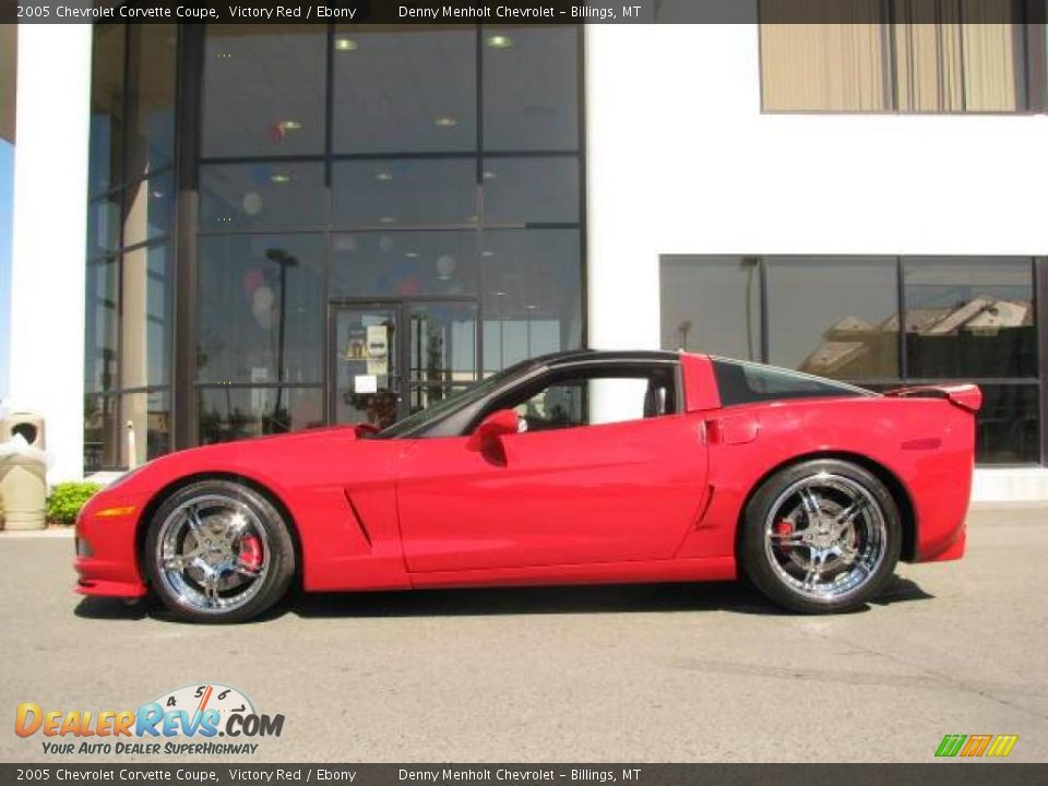 2005 chevrolet corvette coupe victory red ebony photo 1. Black Bedroom Furniture Sets. Home Design Ideas