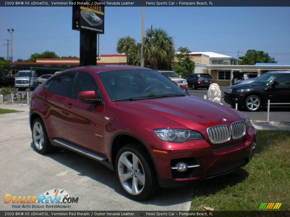 2009 Bmw X6 Xdrive50i Vermilion Red Metallic Oyster
