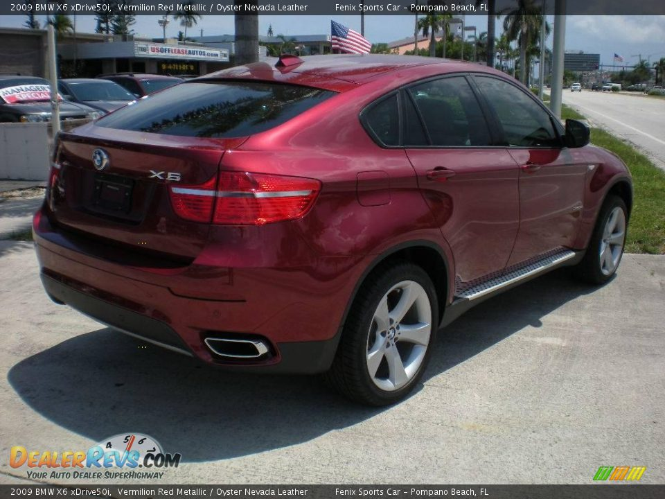 2009 Bmw X6 Xdrive50i Vermilion Red Metallic Oyster Nevada Leather Photo 11 Dealerrevs Com