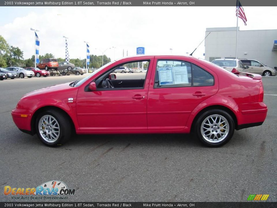 2003 volkswagen jetta wolfsburg edition 1 8t sedan tornado red black photo 2. Black Bedroom Furniture Sets. Home Design Ideas