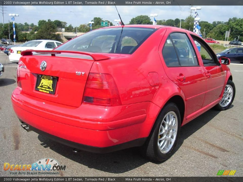 2003 volkswagen jetta wolfsburg edition 1 8t sedan tornado red black photo 5. Black Bedroom Furniture Sets. Home Design Ideas