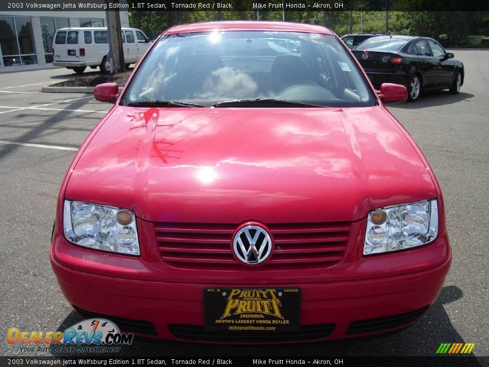 2003 volkswagen jetta wolfsburg edition 1 8t sedan tornado red black photo 8. Black Bedroom Furniture Sets. Home Design Ideas