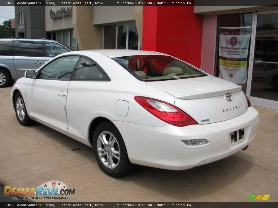 2007 Toyota Solara Se Coupe Blizzard White Pearl Ivory