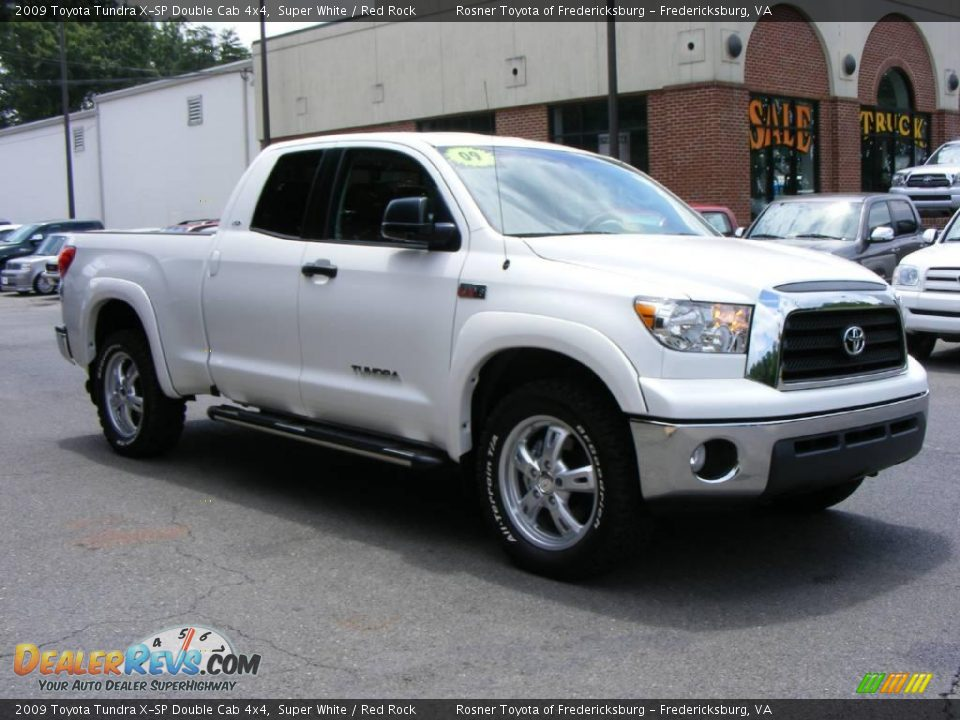 2009 toyota tundra x sp double cab 4x4 super white red rock photo 2. Black Bedroom Furniture Sets. Home Design Ideas