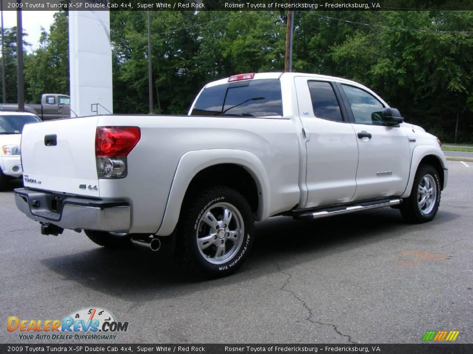 2009 toyota tundra x sp double cab 4x4 super white red. Black Bedroom Furniture Sets. Home Design Ideas