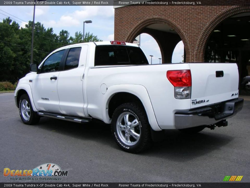 2009 toyota tundra x sp double cab 4x4 super white red rock photo 4. Black Bedroom Furniture Sets. Home Design Ideas