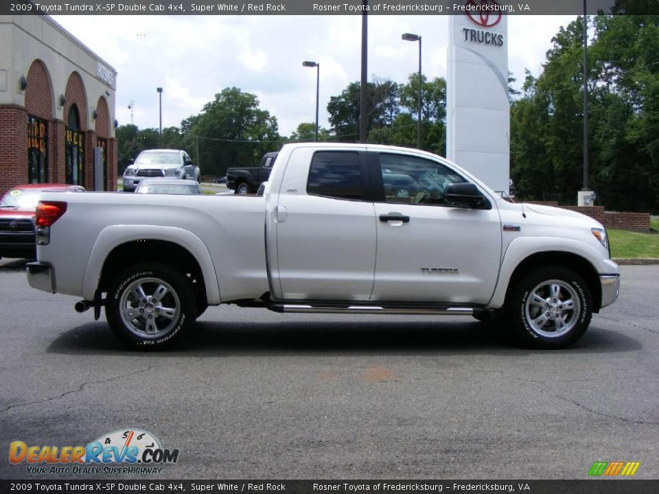 2009 toyota tundra x sp double cab 4x4 super white red rock photo 18. Black Bedroom Furniture Sets. Home Design Ideas