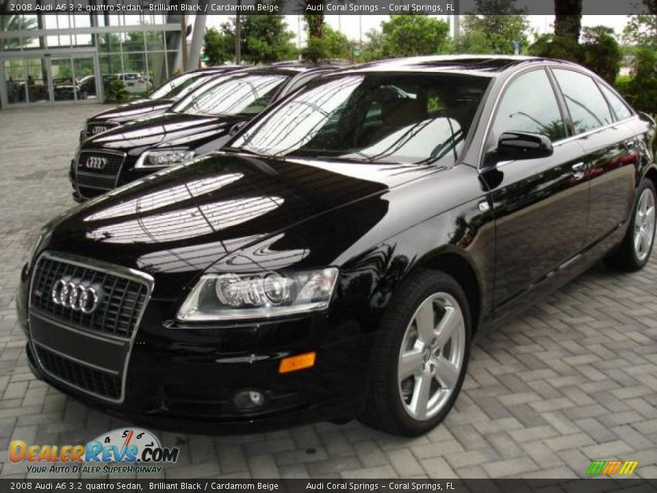 2008 Audi A6 3 2 Quattro Sedan Brilliant Black Cardamom