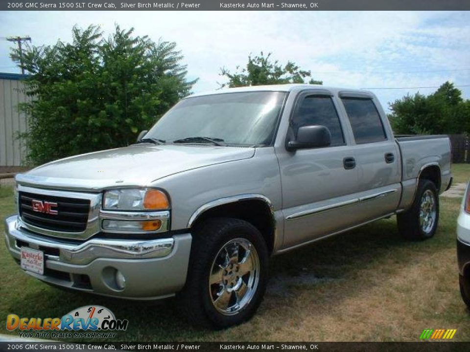 2006 gmc sierra 1500 slt crew cab silver birch metallic pewter photo 1. Black Bedroom Furniture Sets. Home Design Ideas