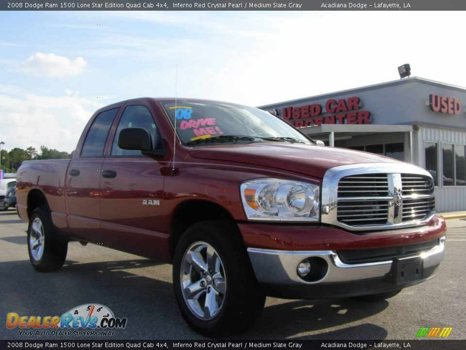 2008 Dodge Ram 1500 Lone Star Edition Quad Cab 4x4 Inferno Red Crystal ...