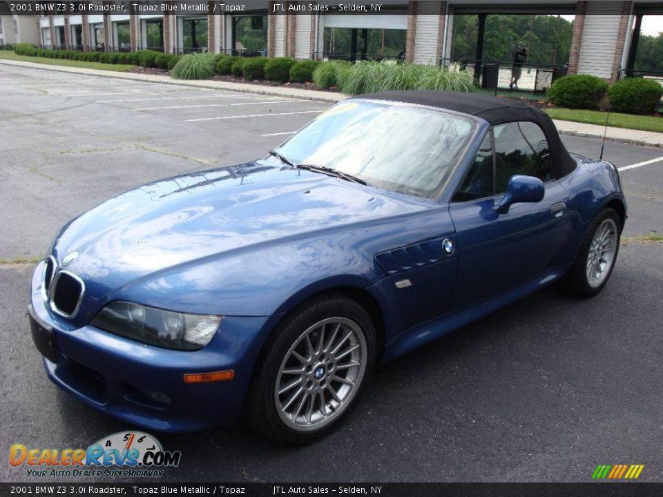 2001 Bmw Z3 3 0i Roadster Topaz Blue Metallic Topaz