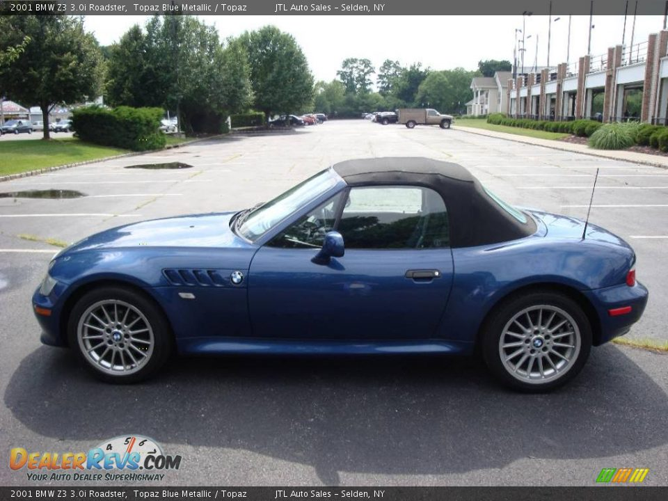 2001 Bmw Z3 3 0i Roadster Topaz Blue Metallic Topaz
