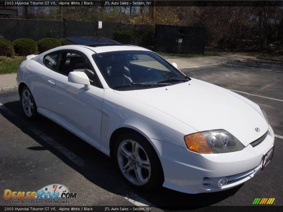 2003 hyundai tiburon gt v6 alpine white black photo 2. Black Bedroom Furniture Sets. Home Design Ideas