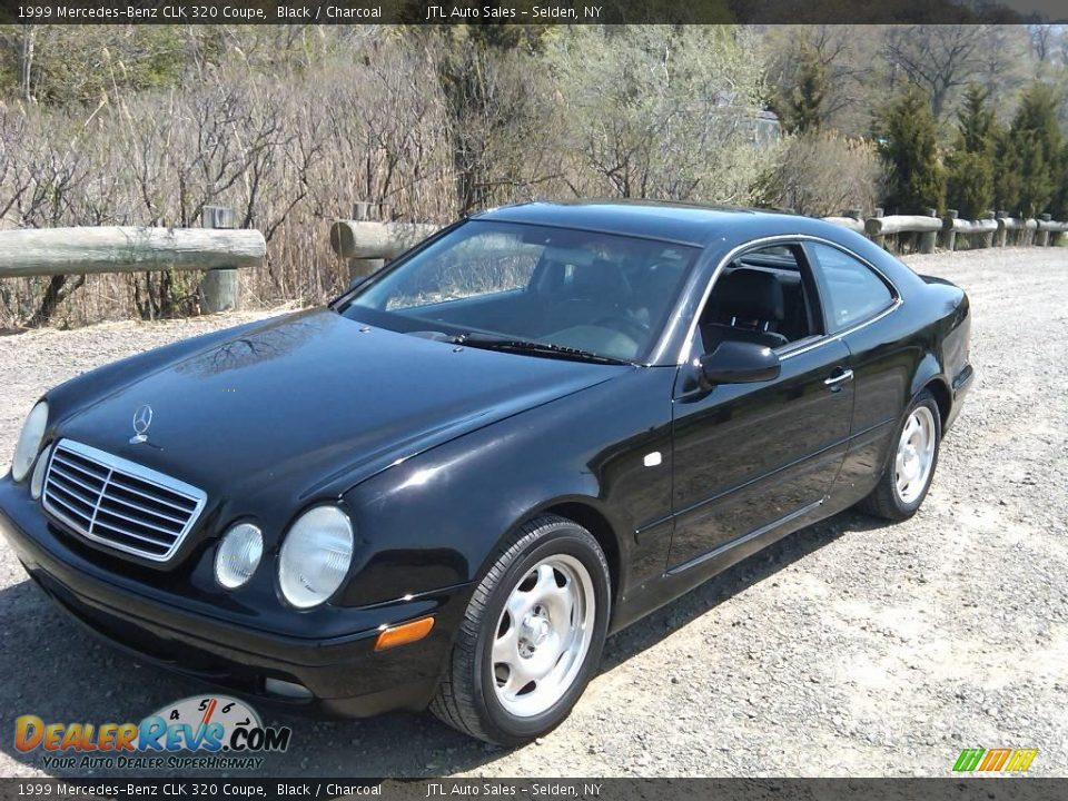 1999 mercedes benz clk 320 coupe black charcoal photo 1. Black Bedroom Furniture Sets. Home Design Ideas