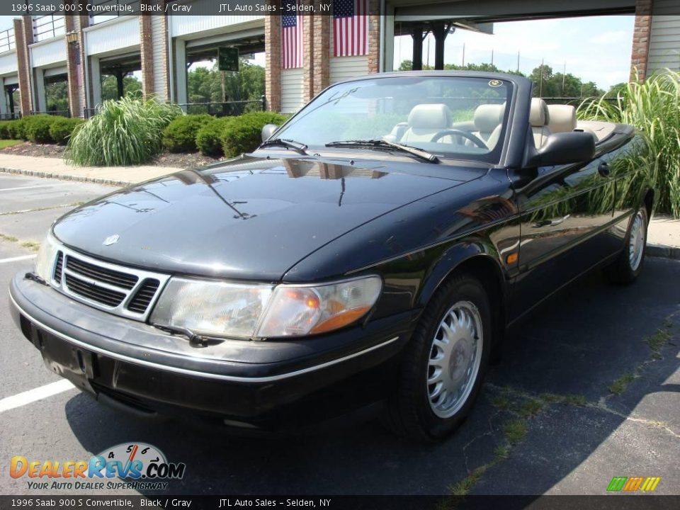 1996 saab 900 s convertible black gray photo 1. Black Bedroom Furniture Sets. Home Design Ideas
