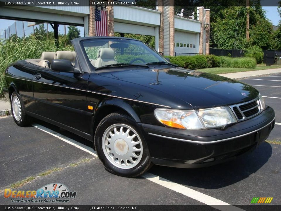 1996 saab 900 s convertible black gray photo 3. Black Bedroom Furniture Sets. Home Design Ideas