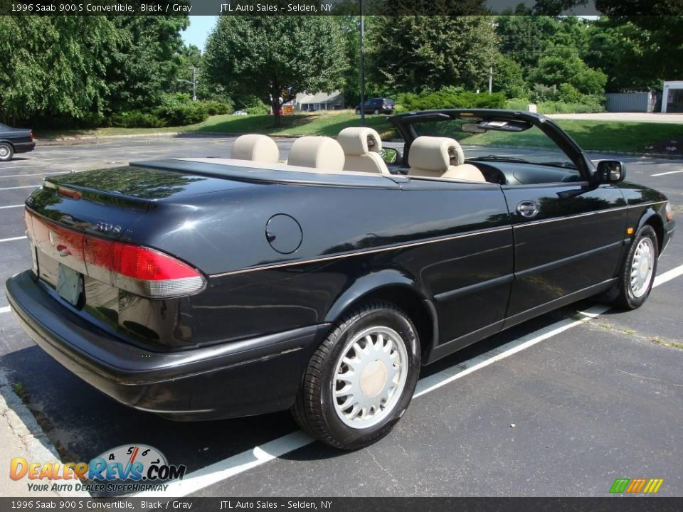 1996 saab 900 s convertible black gray photo 4. Black Bedroom Furniture Sets. Home Design Ideas