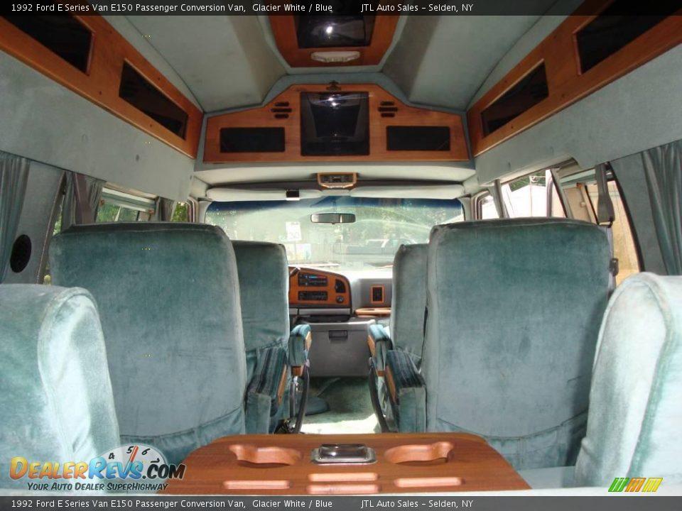 1992 ford e series van e150 passenger conversion van glacier white blue photo 12 dealerrevs com