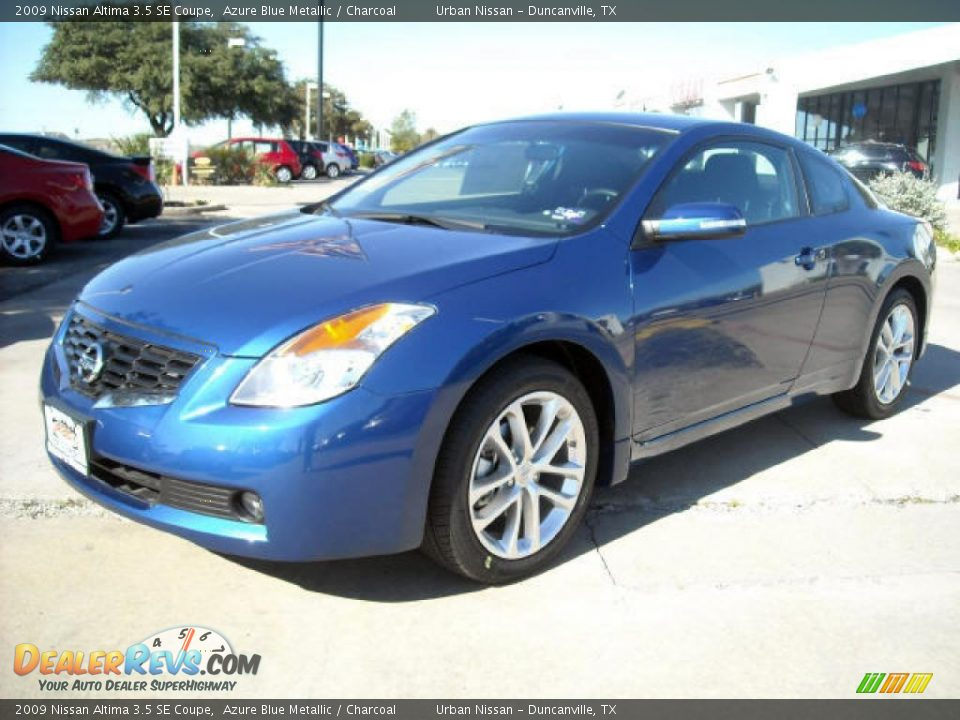 2009 nissan altima 3 5 se coupe azure blue metallic charcoal photo 1. Black Bedroom Furniture Sets. Home Design Ideas