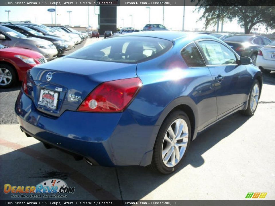 2009 nissan altima 3 5 se coupe azure blue metallic charcoal photo 3. Black Bedroom Furniture Sets. Home Design Ideas