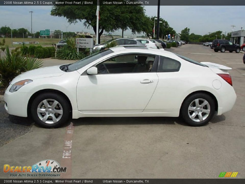 2008 Nissan Altima 2 5 S Coupe Winter Frost Pearl Blond